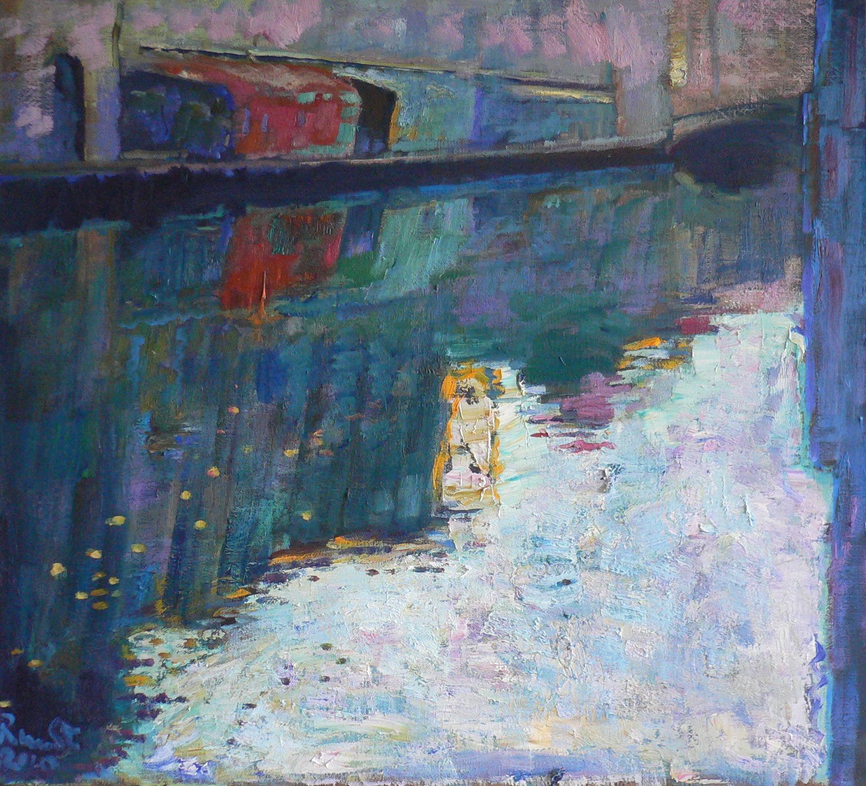 canal àt Chioggia (Venice) Italiy oil on canvas 100x90 cm 2010 SOLD coll Stefano Montecelli
