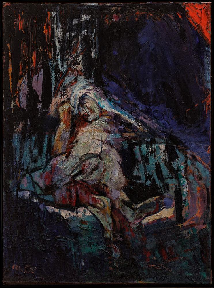 la mort de César huile sur toile   200x148 cm 2011