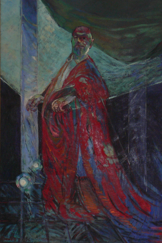moi et le cardinal de Richelieu (1-er ministre de louisXIII ) huile sur toile ca 200x160 cm