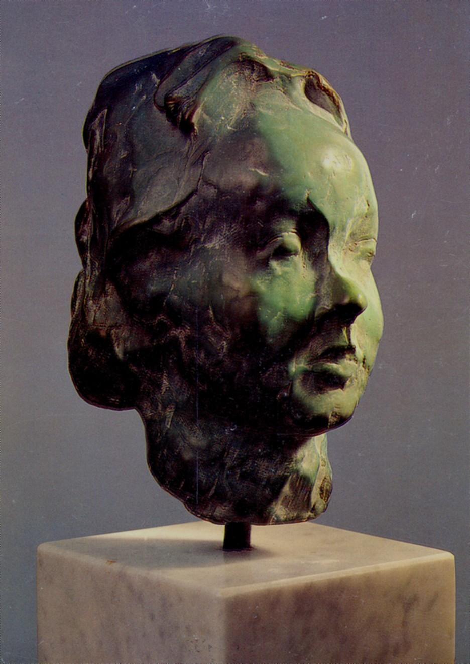 piccolo testa  dell Amelie bronzo A  20 cm  1997