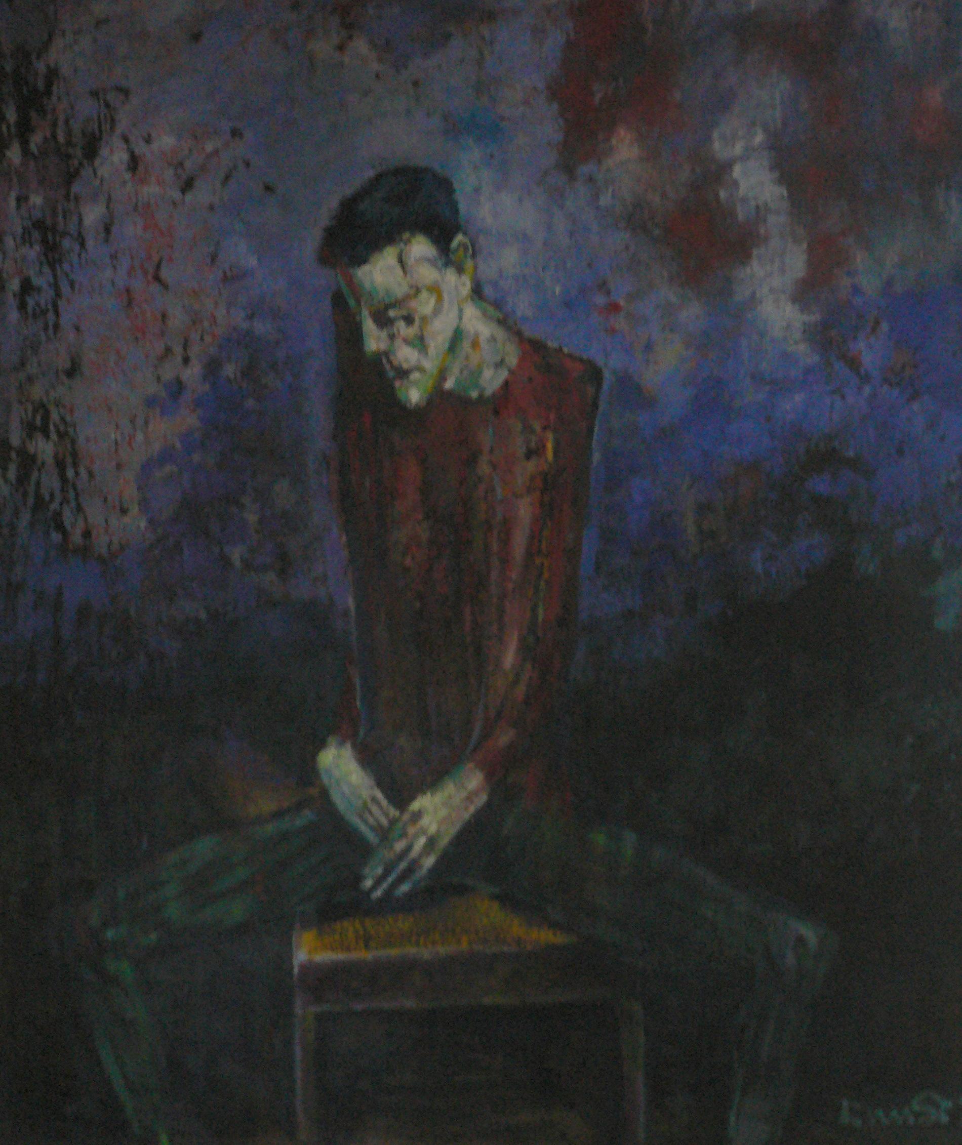''bipolaire '' huile sur toile 200x 160 cm