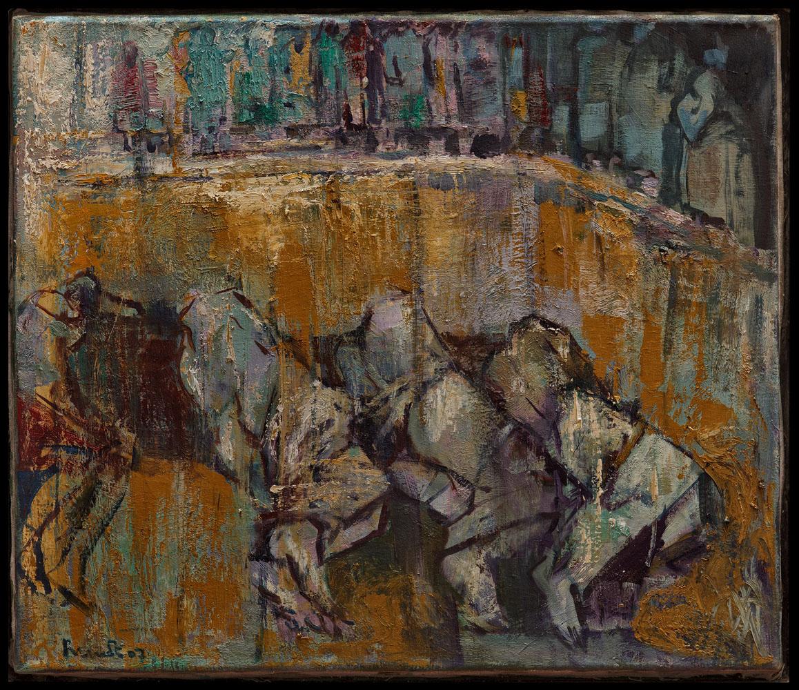 fosse commune huile sur toile 50x60 cm
