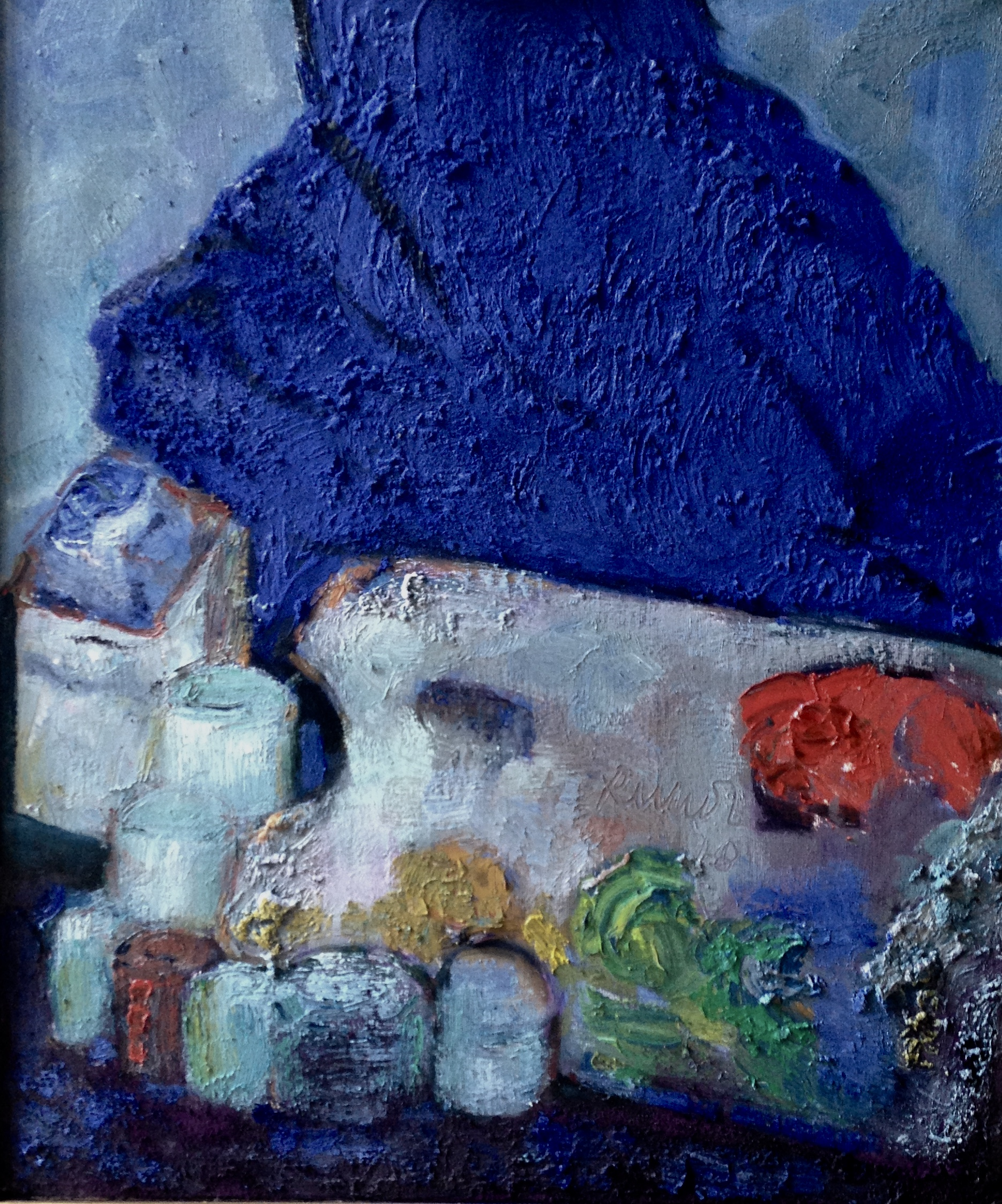 stillife oli on canvas and pigment  60x50 cm 2018