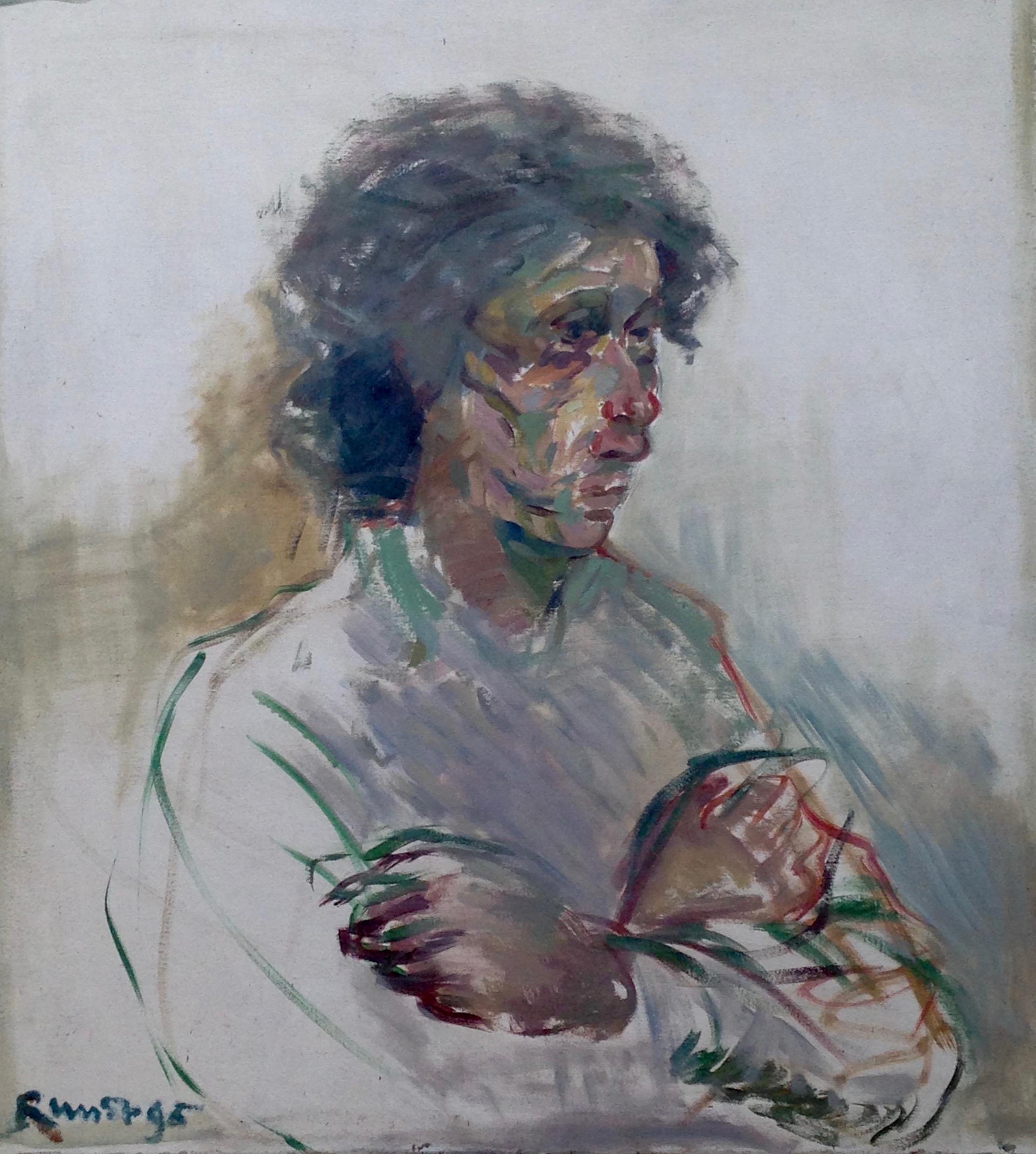 RITRATTO Christian W olio su tela 100x90 cm Francia venduto