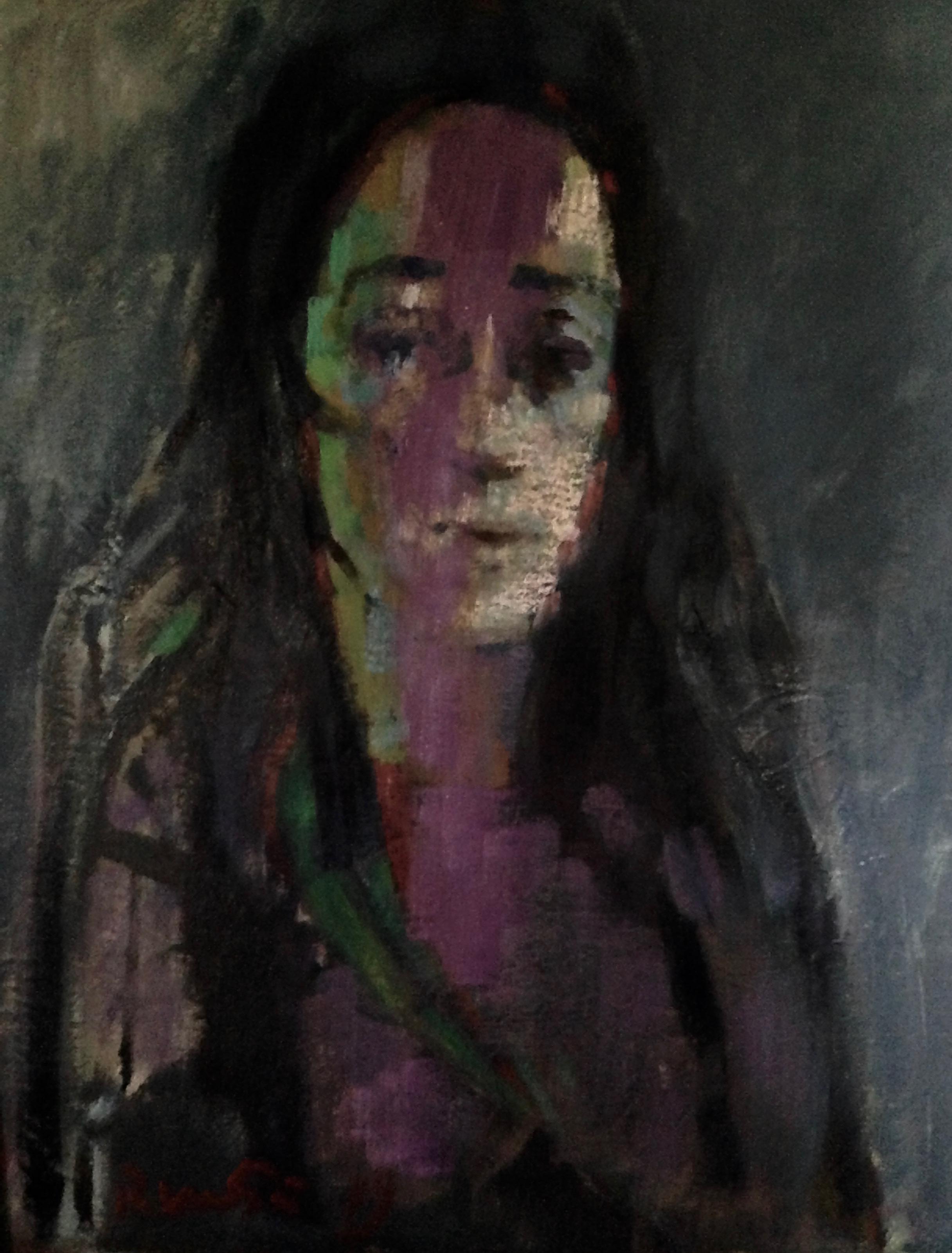 ritratto Zoila olio su tela 50x60 cm 2019