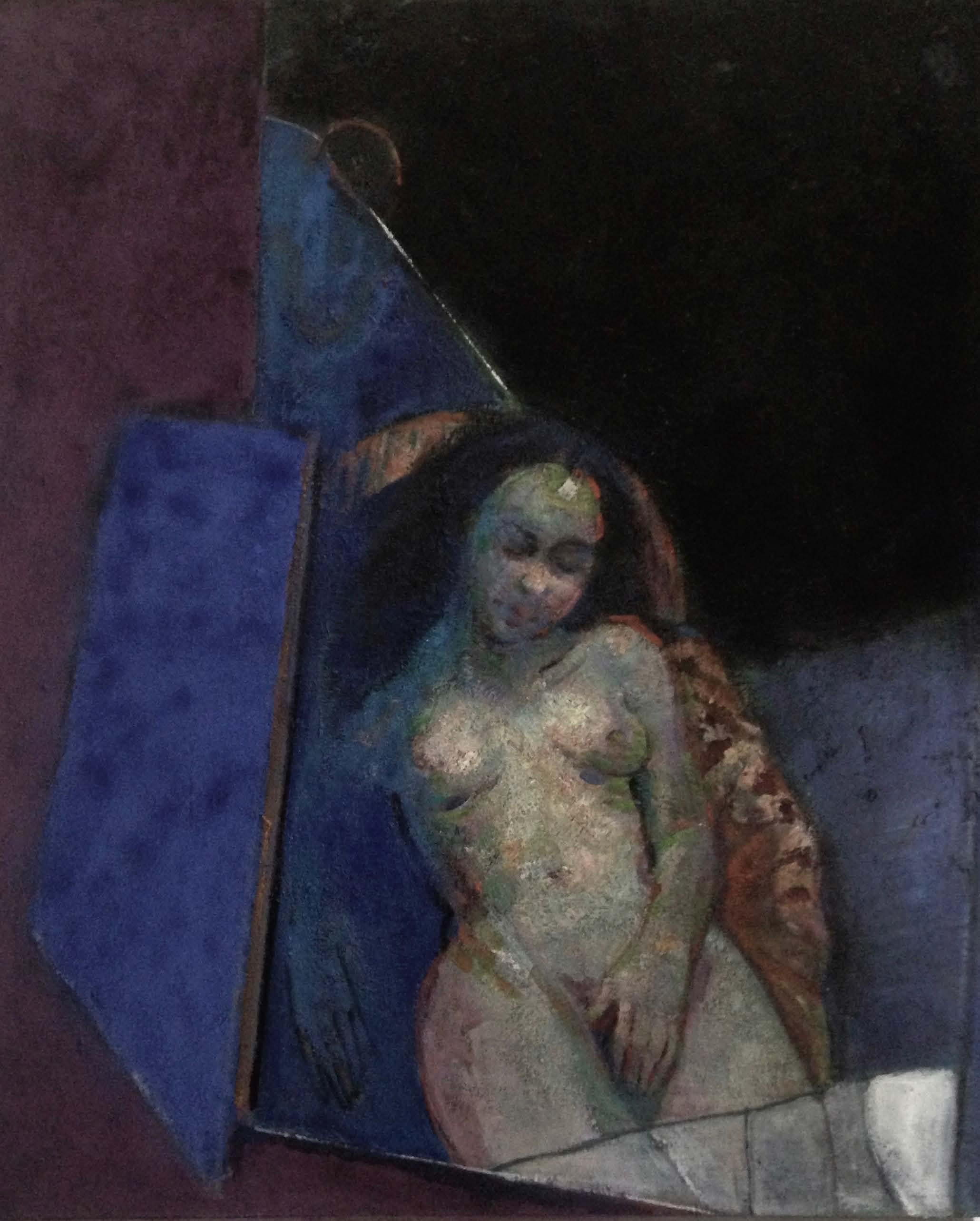 nudo ,pigmenti,olio su tela