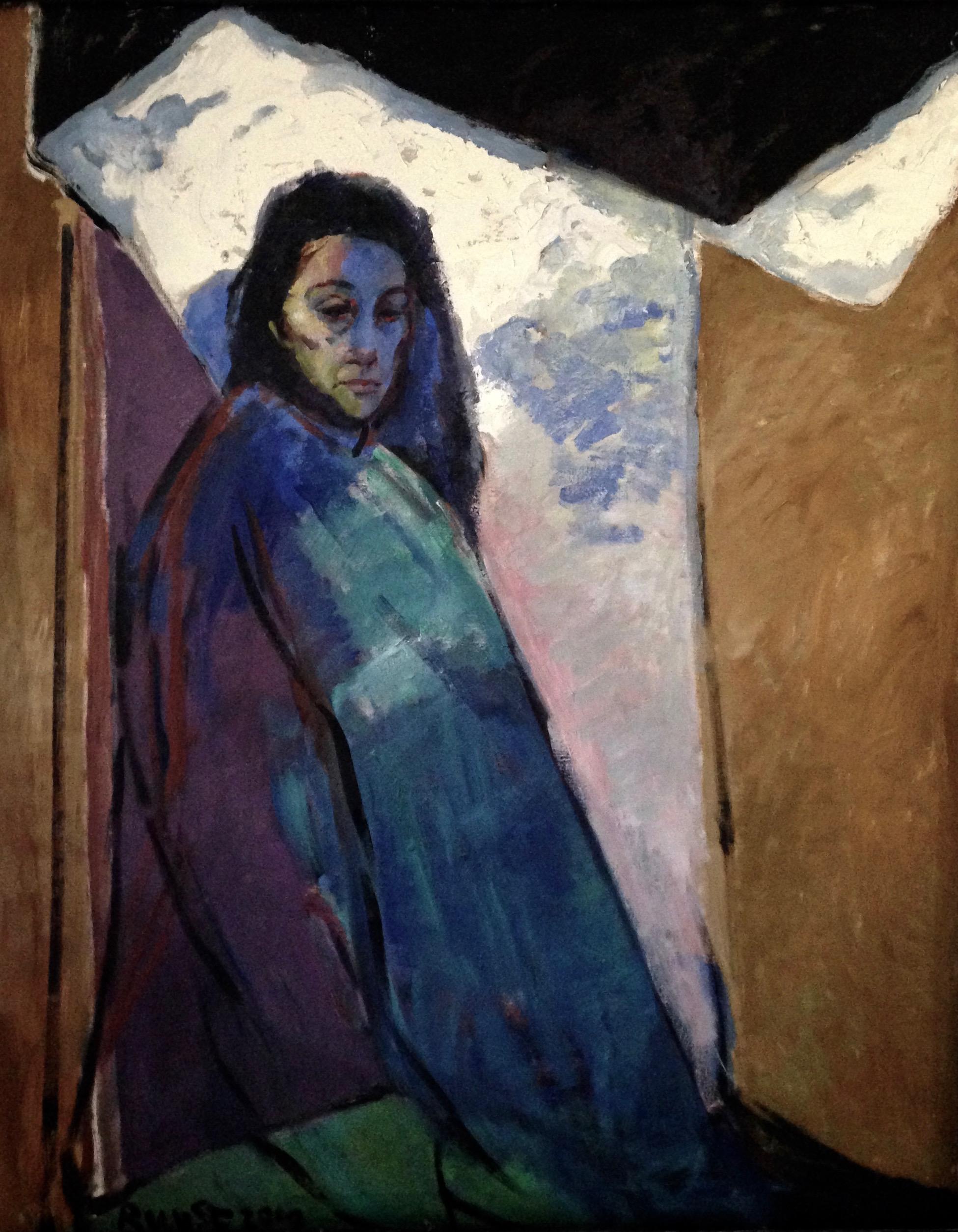 ritratto di Zoila V olio su tela 160x120 cm 2020
