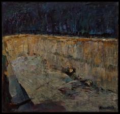 ''fosse commune' huile sur toile 200x 180 cm collection Schrotter France