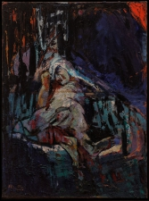 la morte di  Césare olio su tela   200x148 cm 2011