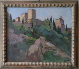 ''l'Alhambra ''espagne huil sur toile 60x50 cm