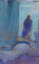''nue et miroir'' pastel 50x60 cm 2017