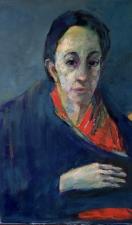 detail portrait Zoila V oil on canvas 2018