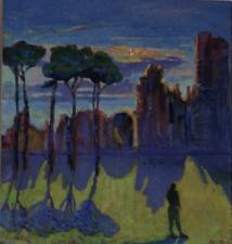 tramonto 'mons palatino' ROMA  circa 100x90 cm 2018 coll C Roy Francia