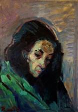 ritratto di Zoila V olio su tela 50x70 cm 2020