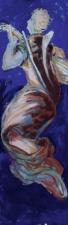 angelo musicista  tempera su legno 40 x200 cm 2019 Palazzo Ruudt Wackers
