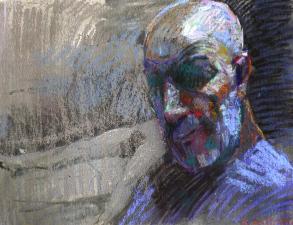 autoritratto pastello  45x60 cm 2011