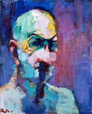 Autoportrait 2005  45X55 Huile sur toile