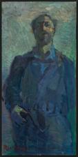 _autoritratto  olio su legno  80  x 45 cm