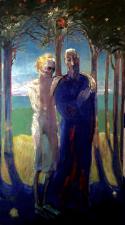 ''una passegiatia'' fresco secco tempera 200x110 cm 2020 Palazzo Ruudt Wackers