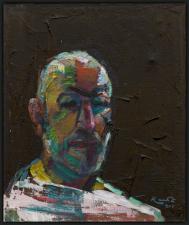 autoritratto 50x60 cm olio su tela  coll. R Hoekstra Ollanda