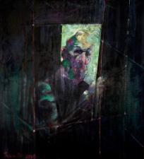 Autoritratto 120x130 cm olio su tela 2019