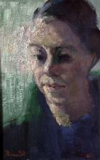 piccolo ritratto  Marta 23x35 cm olio su legno 2021